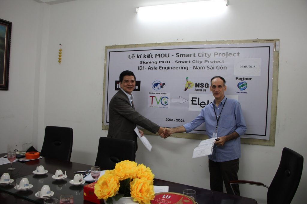 Signing ceremony between ELEK – SMARTEC to cooperate with TVC in SMART CONNECTED PLATFORM (SCP) projects